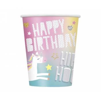 8 gobelets licorne party