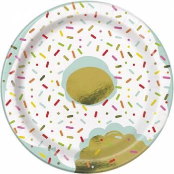 8 Assiettes dessert Donut party