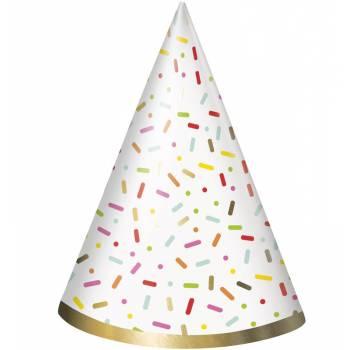 8 chapeaux de fête Donut party