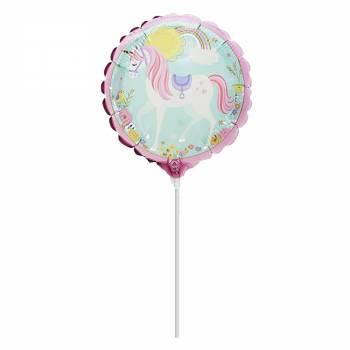 Mini Ballon licorne magique gonflé