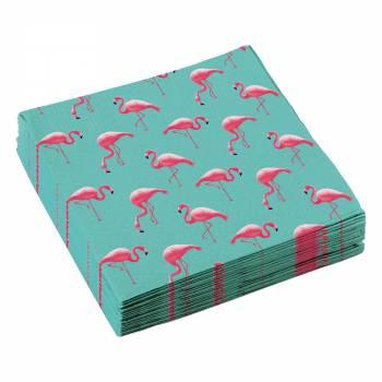 20 Serviettes Flamingo paradise