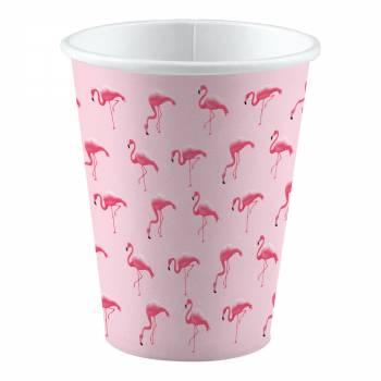 8 Gobelets Flamingo paradise