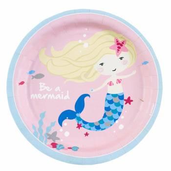 8 Assiettes dessert Mermaid