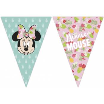Guirlande fanions Minnie Tropical