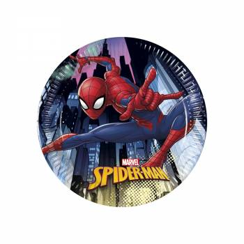 8 Assiettes dessert Spiderman team up