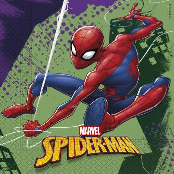 20 Serviettes Spiderman team up