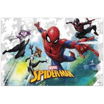 Nappe en plastique Spiderman team up