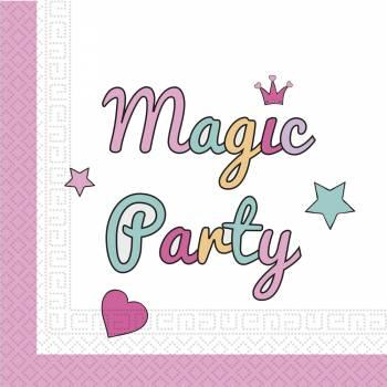 20 Serviettes magic party licorne