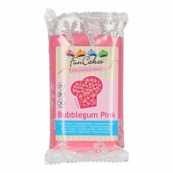 Pâte à sucre Funcakes saveur chewing gum rose