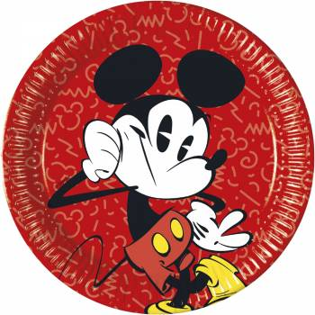 8 Assiettes Mickey cool