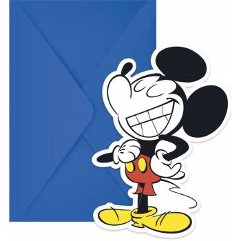 6 cartes invitations Minnie Tropical