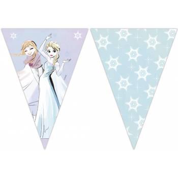 Guirlande fanions La Reine des Neiges sparkle