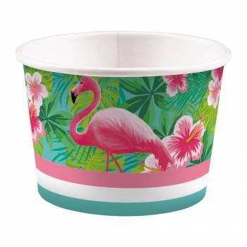8 Pots à glace Flamingo paradise