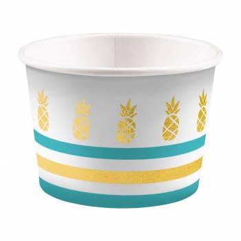 8 Pots à glace Ananas