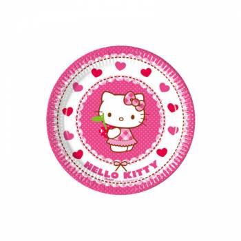 8 Assiettes dessert Hello Kitty