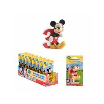 Bougie chiffre Mickey 3