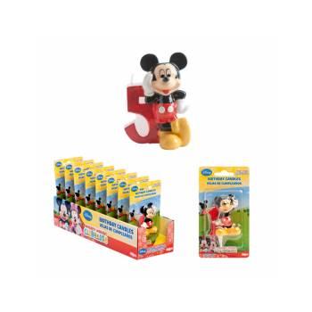 Bougie chiffre Mickey 5