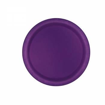 20 Assiettes à dessert violettes foncés