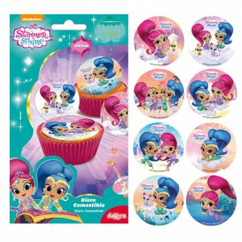 16 mini disque en sucre Shimmer and Shine
