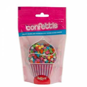 Confettis en sucre marguerite multicolore 100gr
