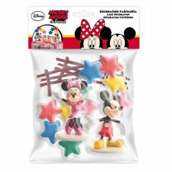 Kit décor gâteau Mickey Minnie