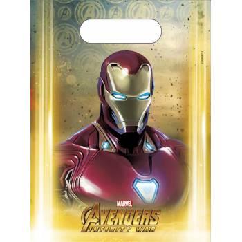 6 Sacs cadeaux Avengers infinity wars