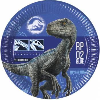 8 Assiettes Jurassic World