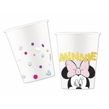 8 gobelets dorure Minnie party gem