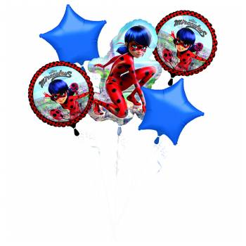 Bouquet ballons hélium Miraculous