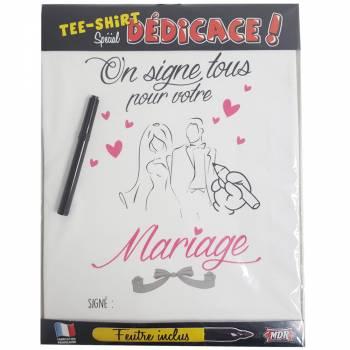 Tee Shirt dédicaces mariage