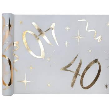 Chemin de table âge d'or 40 ans