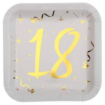 10 Assiettes âge d'or 18 ans