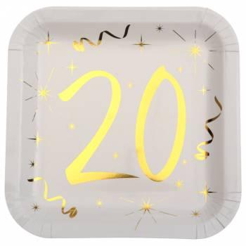 10 Assiettes âge d'or 20 ans