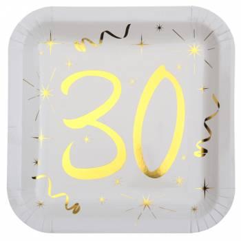 10 Assiettes âge d'or 30 ans