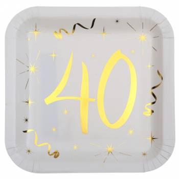 10 Assiettes âge d'or 40 ans