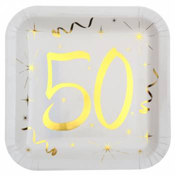10 Assiettes âge d'or 50 ans
