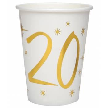 10 Gobelets âge d'or 20 ans