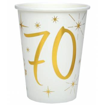 10 Gobelets âge d'or 70 ans