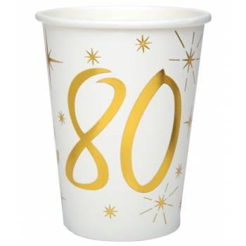 10 Gobelets âge d'or 80 ans