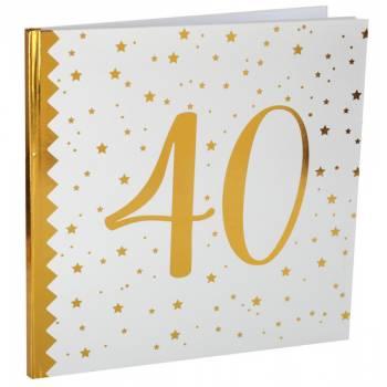 Livre d'or âge d'or 40 ans