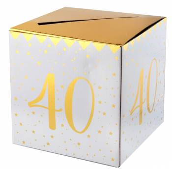 Tirelire âge d'or 40 ans