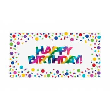 Pancarte Happy birthay Rainbow foil