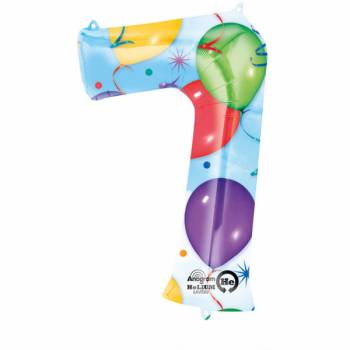 Ballon géant chiffre 7 festif