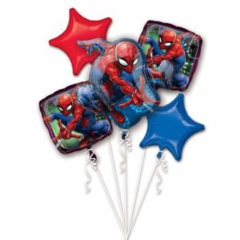 Bouquet ballons hélium Spider Man