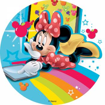 Photo comestible Minnie sans sucre