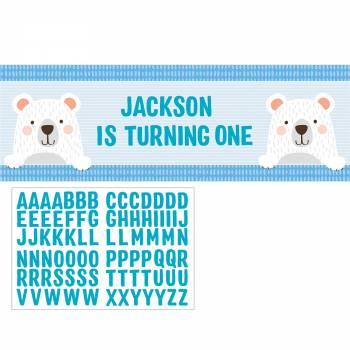 Bannière avec stickers 1an ourson