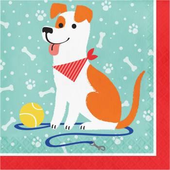 16 serviettes Party Dog