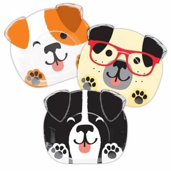 8 assiettes têtes de chiens Party Dog