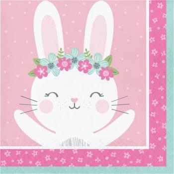 16 Serviettes Bunny Party