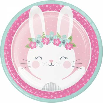 8 Assiettes Bunny Party